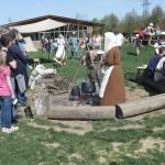 Kochen am Feuer interessierte viele Besucher